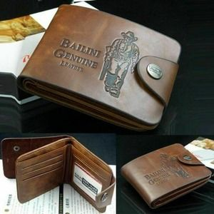 Men's Boys Leather Pockets Credit/ID Cards…